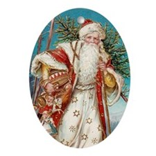 Cute Father christmas Ornament (Oval)