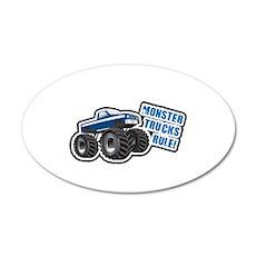 Blue Monster Truck 20x12 Oval Wall Peel