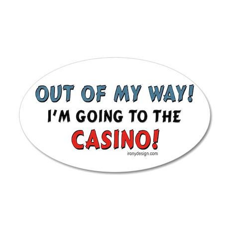 Casino Lovers 35x21 Oval Wall Peel