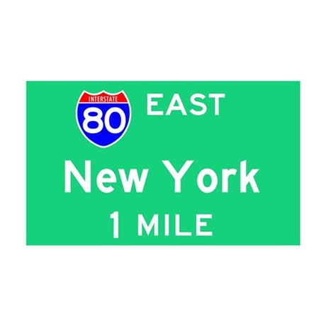 New York Exit Sign 35x21 Wall Peel