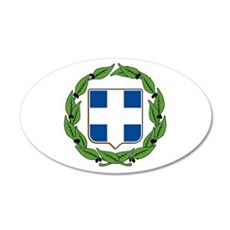 Greek Coat of Arms 20x12 Oval Wall Peel