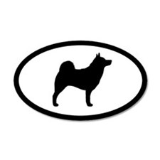 Norwegian Elkhound 20x12 Oval Wall Peel