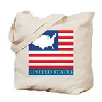 United States Map with Flag Tote Bag