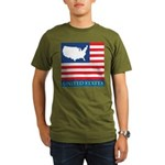 United States Map with Flag Organic Men's T-Shirt