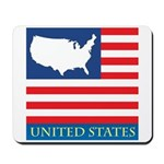 United States Map with Flag Mousepad