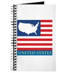 United States Map with Flag Journal