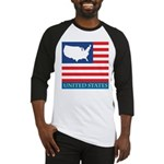 United States Map with Flag Baseball Jersey