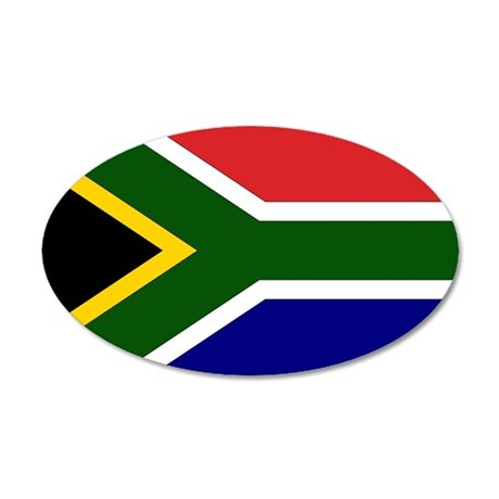South African Flag 20x12 Oval Wall Peel
