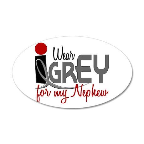 I Wear Grey For My Nephew 32 20x12 Oval Wall Peel