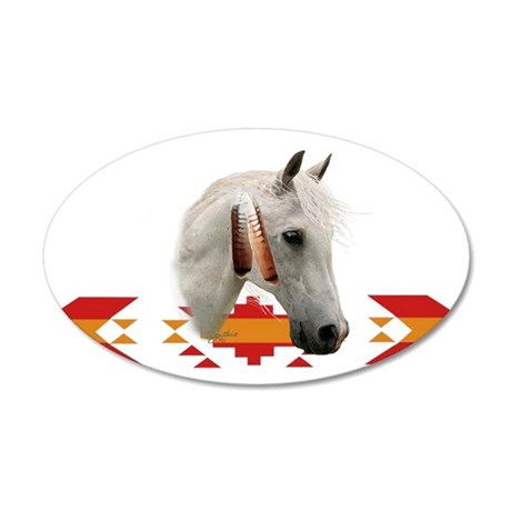 Indian Pony 20x12 Oval Wall Peel