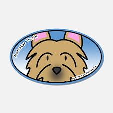 Anime Australian Terrier 20x12 Oval Wall Peel