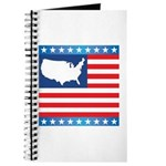 USA Map on Flag with Stars Journal