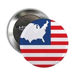 """USA Map on Flag with Stars 2.25"""" Button (10 pack)"""
