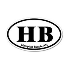 Hampton Beach HB Euro Oval 20x12 Oval Wall Peel