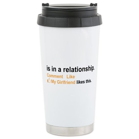 Facebook In a relationship #2 Stainless Steel Trav