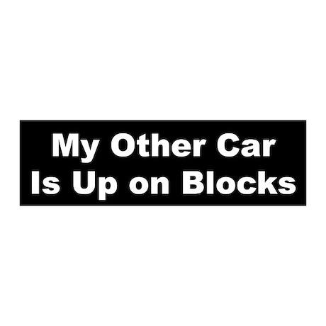 Up on Blocks (White on Black)