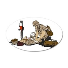 Wounded Warrior Support the Troops Decal Wall Sticker