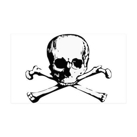 Skull and Crossbone35x21 Wall Peel