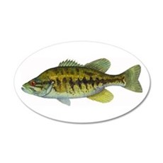 Smallmouth Bass 20x12 Oval Wall Peel