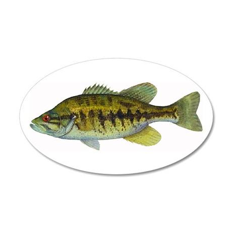 Smallmouth Bass 35x21 Oval Wall Peel