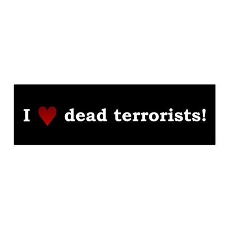 Heart Dead Terrorists 20x6 Wall Peel
