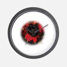 Black Pomeranian Wall Clock