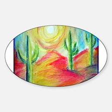 Desert, Bright, Oval Decal