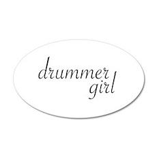 Drummer Girl 20x12 Oval Wall Peel
