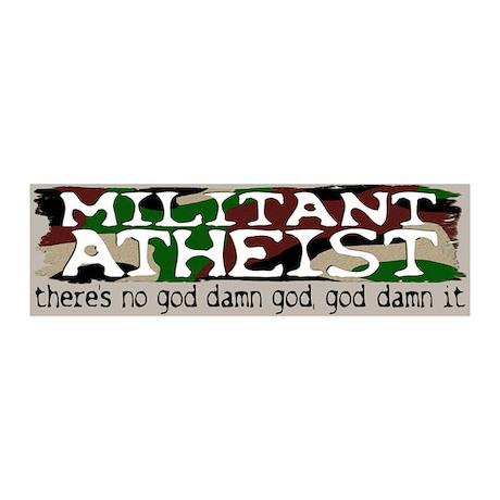 Militant Atheist 20x6 Wall Peel