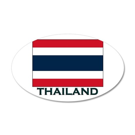 Thailand Flag Gear 20x12 Oval Wall Peel