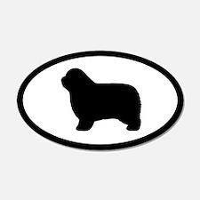 Polish Lowland Sheepdog 20x12 Oval Wall Peel