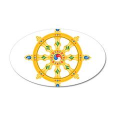 Dharmachakra wheel 20x12 Oval Wall Peel