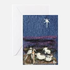 Shepherd_sheep_star Greeting Cards