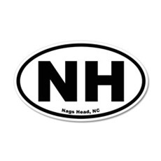 Nags Head Oval 20x12 Oval Wall Peel