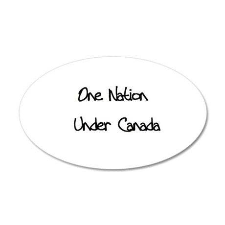 One Nation Under Canada 20x12 Oval Wall Peel