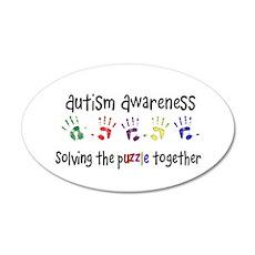 Autism Awareness 20x12 Oval Wall Peel