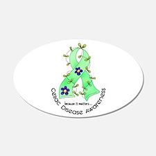 Flower Ribbon CELIAC DISEASE 20x12 Oval Wall Peel