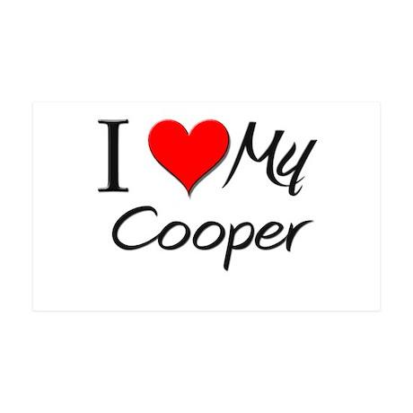 I Heart My Cooper 35x21 Wall Peel