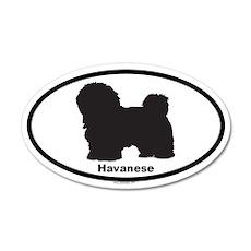 HAVANESE 20x12 Oval Wall Peel