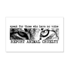 Report Animal Cruelty Cat 20x12 Wall Peel