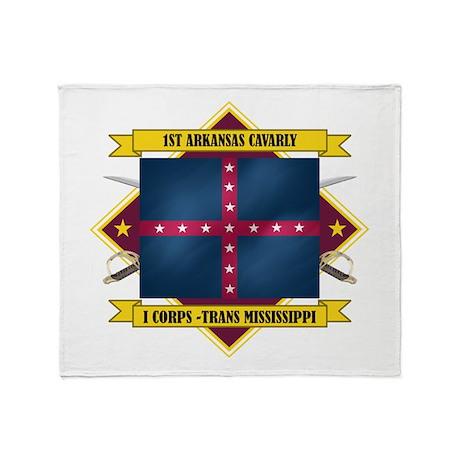 1st Arkansas Cavalry Throw Blanket