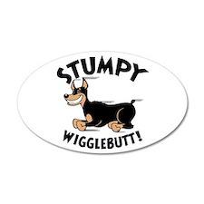 Stumpy Wigglebutt! 20x12 Oval Wall Peel