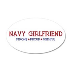 Strong, Proud, Faithful - Navy Girlfriend Sticker
