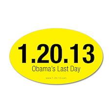 Obama's Last Day Yellow Sticker