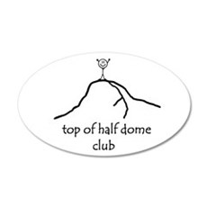 Top Of Half Dome Club 20x12 Oval Wall Peel