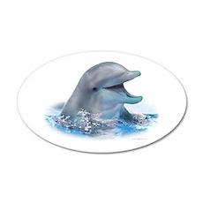 Happy Dolphin 20x12 Oval Wall Peel