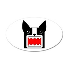 Boston Terrier Rawr Head 20x12 Oval Wall Peel
