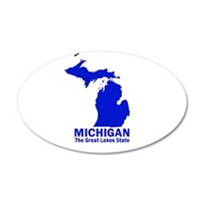 Michigan . . . The Great Lake 20x12 Oval Wall Peel