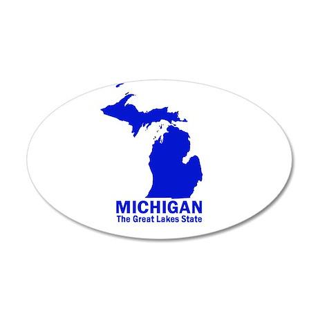 Michigan . . . The Great Lake 20x12 Oval Wall Peel