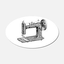 Vintage Sewing Machine 20x12 Oval Wall Peel
